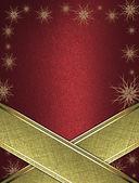 Yıldızlar ve yazmak için altın tabela ed arka kenarları üzerinde altın bir kurdele ile süslenmiş. — Stok fotoğraf