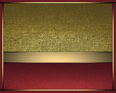 Abstract gold background with inserts of red color for writing. — Stock Photo