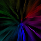 Black background with abstract color lines. — Stock Photo