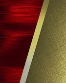 Red Background with tilted gold sheets of paper. — Stock Photo