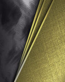 Black Background with tilted gold sheets of paper. — Stock Photo