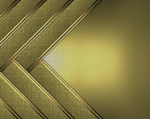 Beautiful gold Background of the strips, and gold nameplate for writing. — Stock Photo