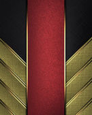 Gold Background of the strips, on a black background with red nameplate — Stock Photo