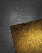 Abstract iron background with inserts of gold color for writing. — Zdjęcie stockowe