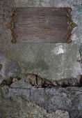 Stary tło ściana z drewnianej tabliczce — Zdjęcie stockowe
