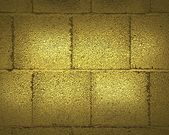 Texture gold wall of the blocks — ストック写真