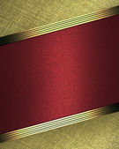 Design template - Gold background with red plate — Stockfoto