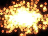 Design template - closeup view of burning sparkler. Colorful Particles — Stock Photo