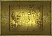 Abstract gold background, with old gold name plate — Stock Photo