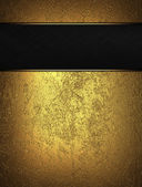 Gold background with black name plate for text — Стоковое фото