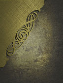 Iron texture, with gold nameplate with pattern — Stock Photo