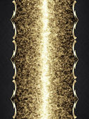 Sparkle background with Black name plate and a gold trim — Stock Photo