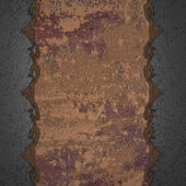 Template for writing. Rusty nameplate on dirty wall — Stock Photo