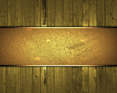 Gold wooden texture with gold nameplate for text — Stock Photo