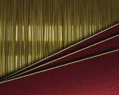 Gold background with tilted red sheets of paper. — Stock Photo