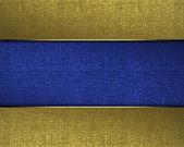 Gyllene konsistens med en blå märkskylt i mitten — Stockfoto