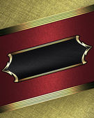Red background and gold name plate with gold ornate edges — Stock Photo