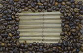 Coffee frame made of coffee beans — Stock Photo