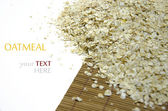 Oatmeal isolated on white background — Stock Photo