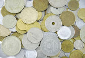 Various coins from around the world — Stock Photo