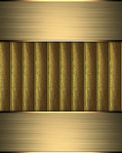 Gold background with gold ribbons and gold edges — 图库照片