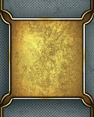 Gold rich texture with grey edges and gold trim — Stock Photo