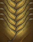 Gold braided texture with golden edges — Stock Photo