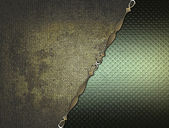 Grunge texture with green inserts and gold trim — Stock Photo