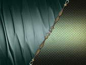 Green texture with green inserts and gold trim — Stock Photo