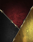 Design template - Gold rich texture with black and gold corners — Stock Photo