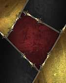 Gold rich texture with golden and black edges and gold trim — Stock Photo