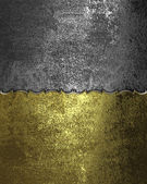 Grunge gold plate and iron plate — Stock Photo