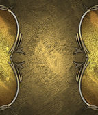 Abstract gold background with abstract gold pattern on edges — Stock Photo