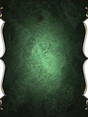 Green texture with gold trim — Stock Photo