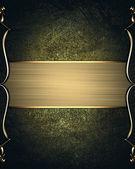 Nipped altın altın trim ve tabela ile koyu arka plan üzerinde — Stok fotoğraf