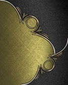 Gold texture with black angles and gold trim — Stock Photo