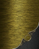 Gold texture with grey angle and gold trim — Stock Photo
