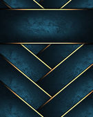 Blue braided texture with golden edges with blue nameplate — Stock Photo