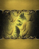 Beautiful golden background with gold edged with gold trim — Stock Photo