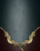 Texturas Grunge azul con esquinas de rojas y oro adorno — Foto de Stock