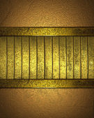 Gold texture striped with gold edges — Stock Photo