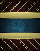 Red background with gold stripes with a gold nameplate in the middle — Foto Stock