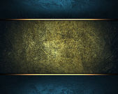Old dark yellow background with blue edges. — Stock Photo