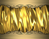 Abstract gold background with gold edges and gold trim — Stock fotografie