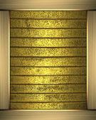 Abstrakt gyllene bakgrund av band, med guld kanter — Stockfoto