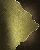 Gold rich texture with brown angles and gold trim — Stock Photo