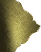 Gold rich texture with white angles and gold trim — Stock Photo