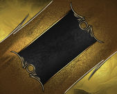 Gold rich texture with golden edges and gold trim — Stock Photo