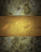 Rusty dirty texture with abstract gold texture (background) — Stock Photo