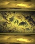 Abstrakt textur guld med gyllene kanter — Stockfoto